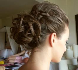 loose bun and braid