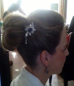 bridal high bun